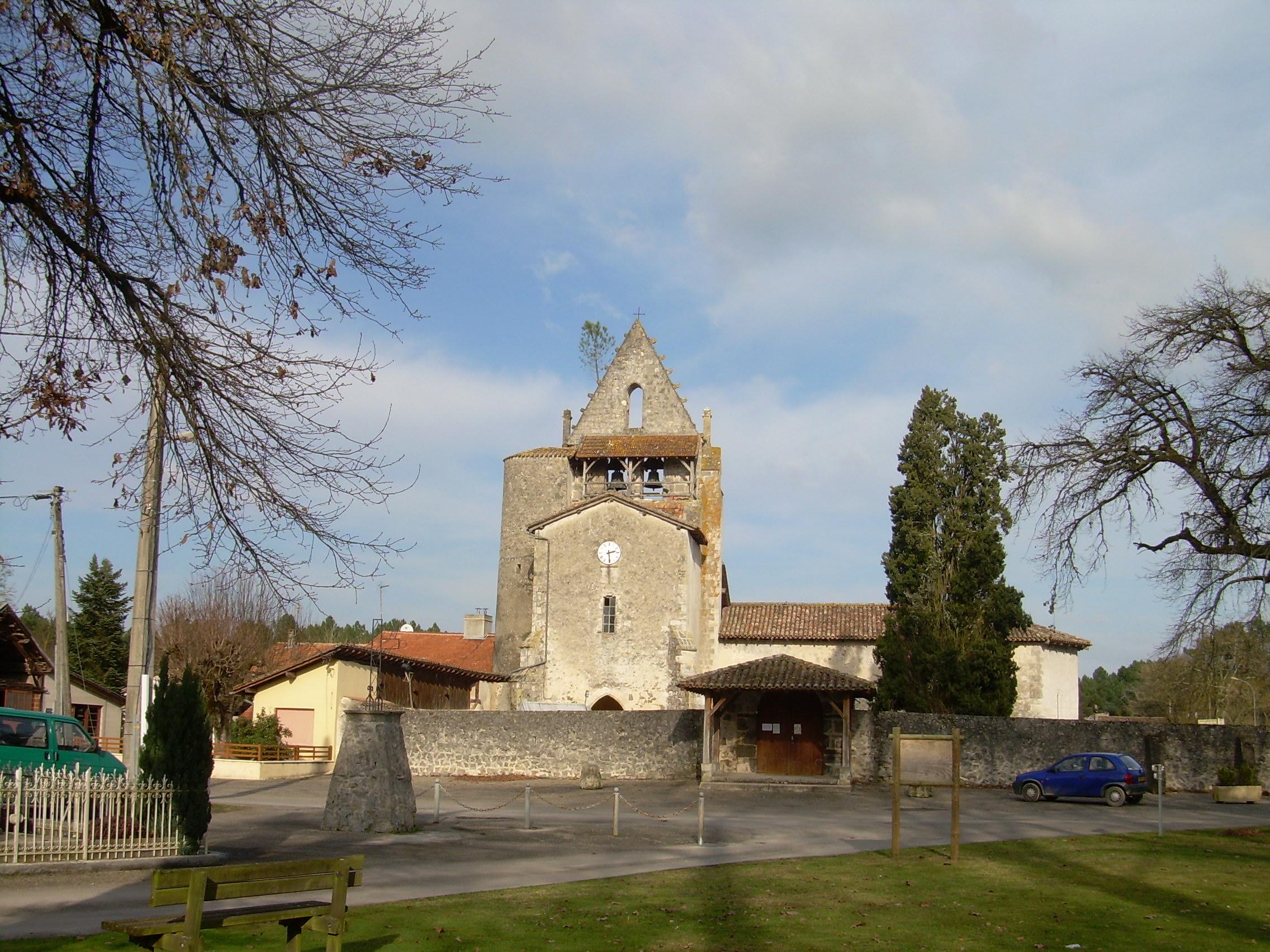 L'église de Pompgne au départ